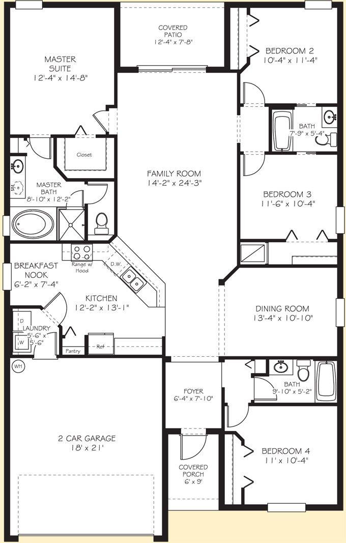Image Detail For Lennar Homes Orlando New Home Builder Normandy Floor Plan Floor Plans House Floor Plans Small House Floor Plans
