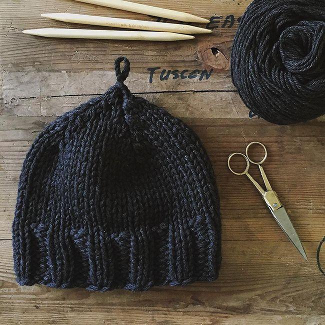 Plait Hat by Karen Templer (free knitting pattern) | Knit babys ...