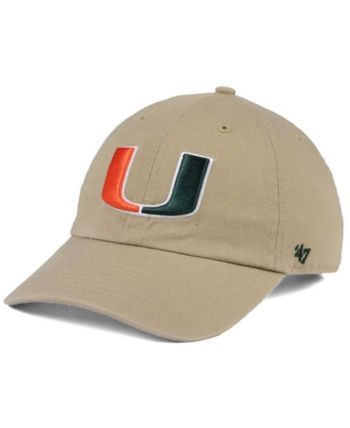finest selection cf850 f0e41  47 Brand Miami Hurricanes Clean Up Cap - Tan Beige Adjustable.