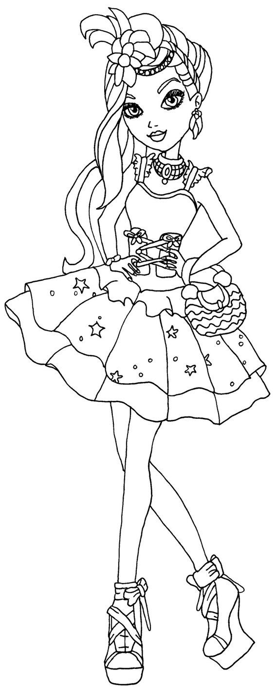 A Coloring Page Of Duchess Swan From Ever After High