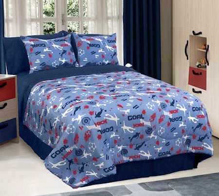 Blue Soccer Bedding Twin Full Queen Comforter Set Or Bed In A Bag Bed Linens Luxury Blue Comforter Sets Comforter Sets