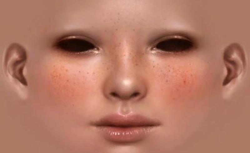 Face uv texture