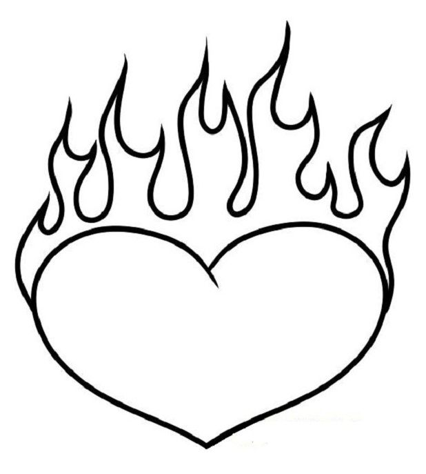 Hearts On Fire Coloring Sheets Hearts On Fire Coloring Sheets Coloringpages Coloring Coloringbook Colo Heart Coloring Pages Love Coloring Pages Fire Heart