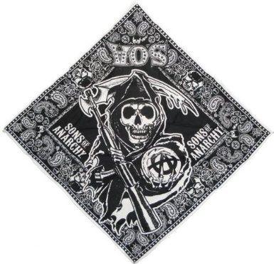 Sons Of Anarchy Paisley Bandana Black White Clothing Sons Of Anarchy Anarchy Bandana