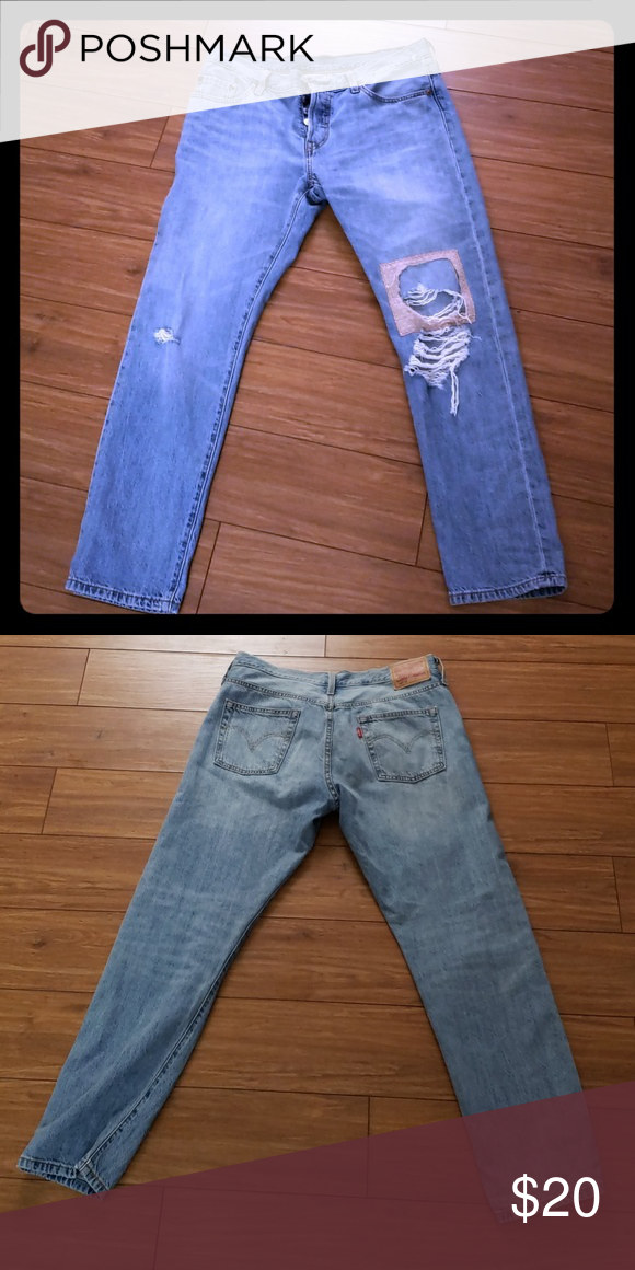 9d8fba84 Levi's 501 original crop Jeans Distressed jeans Levi's Jeans Ankle & Cropped