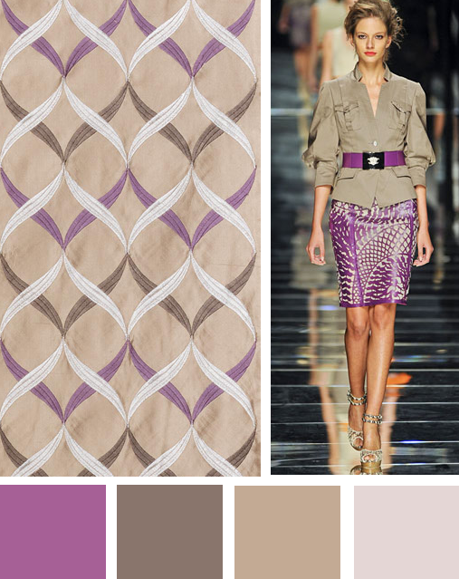 I do like this color palette...don't think I could carry it off, but it is lovely.