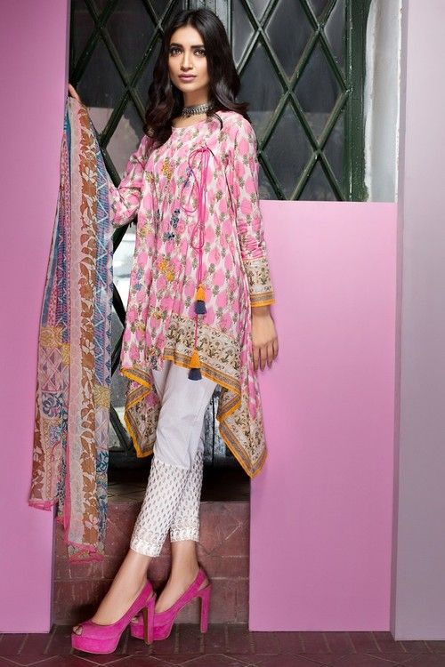 Khaadi 3 Piece Custom Stitched Embroidered Lawn Suit - K17201 - PINK ...