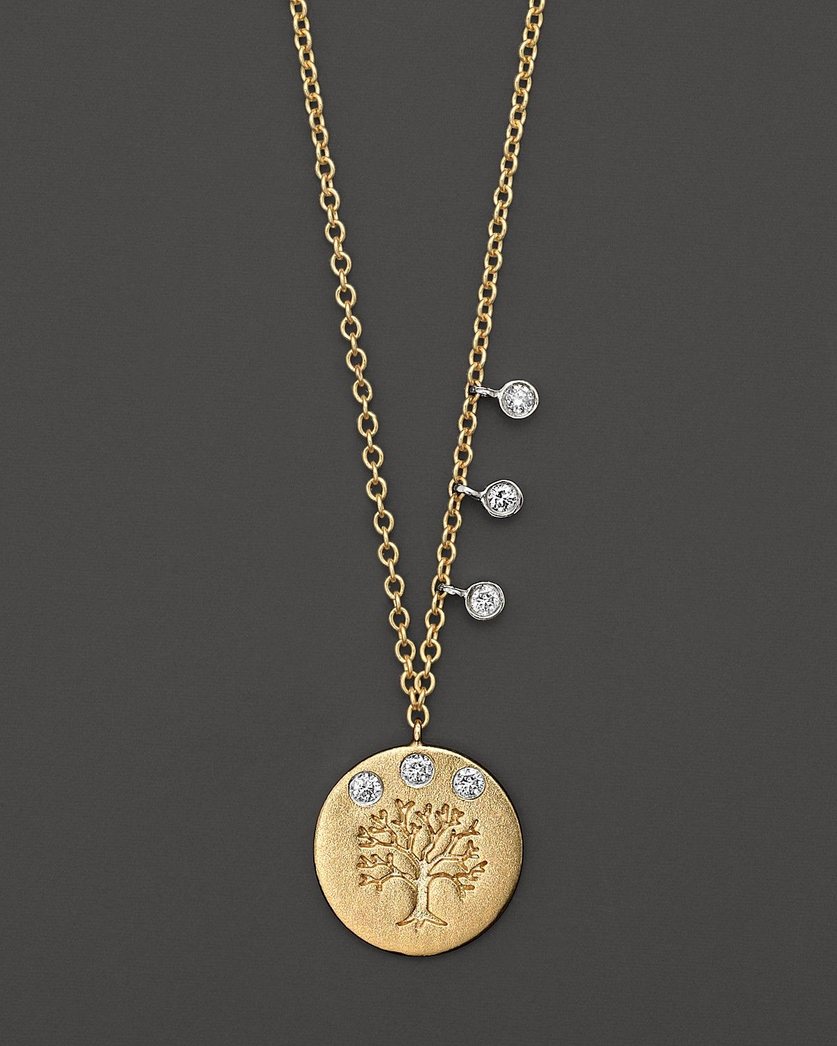 Meira T Diamond and 14K Yellow Gold Tree of Life Necklace