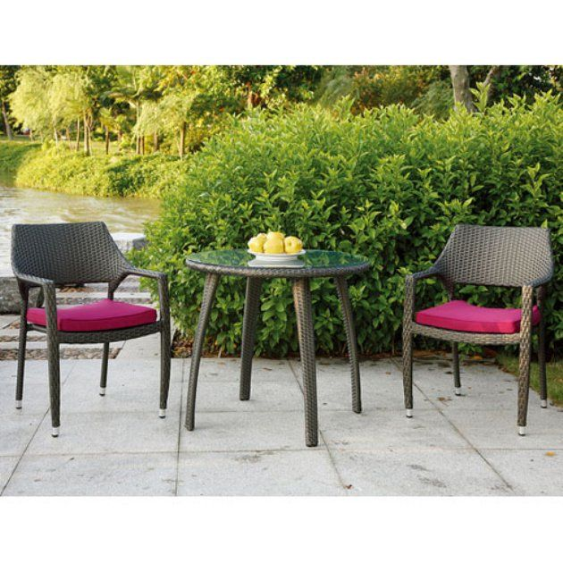 Source Outdoor Tuscana All Weather Wicker Bistro Dining Set