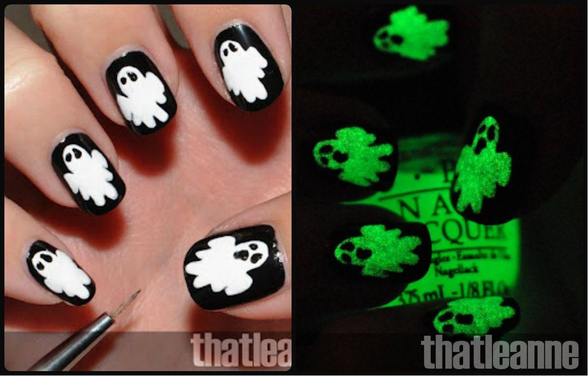 Dorable Uñas Postizas Para Halloween Bandera - Ideas Para Pintar ...