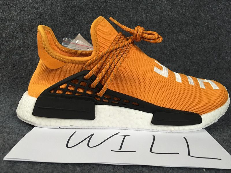 ee192939f Adidas NMD Human Race Pharrell Williams Tangerine Core Black PW Hu Nomad  BB3070