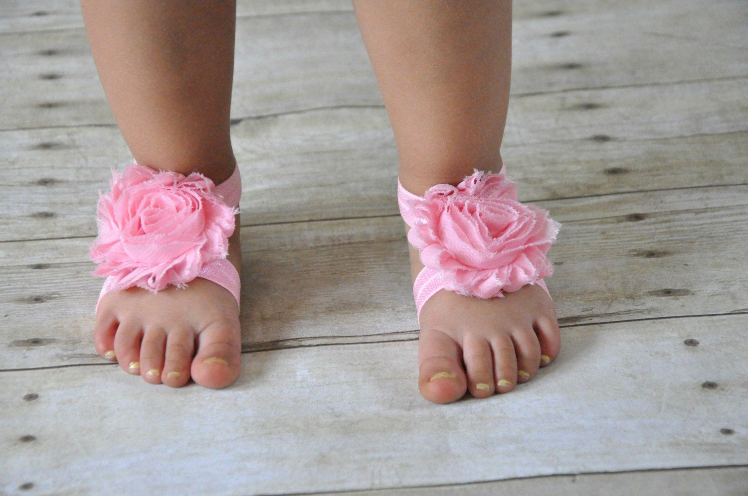Newborn Elastic Shoes Pink Baby Barefoot Sandals Pink Baby Shoes Pink Infant