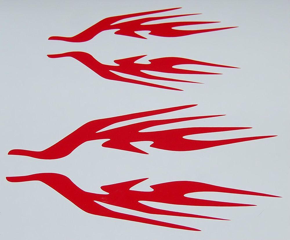 Bike Frame Name Tribal Flame Decal Sticker Set Custom