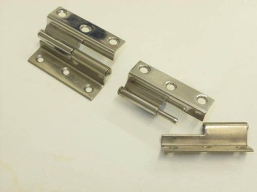 Pair of lift off stainless steel offset hinges 54x40mm, offset 12mm