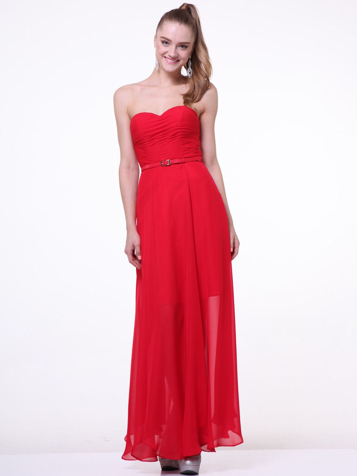 Strapless Pleated Sweetheart Evening Dress | Sung Boutique L.A.