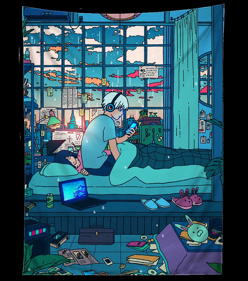 Sleepy Days Tapestry - 80\ X 60\