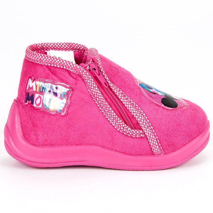 Kapcie Dzieciece Dla Dzieci Butymodne Rozowe Kapcie Na Suwak Myszka Miki Fashion Sneakers Shoes