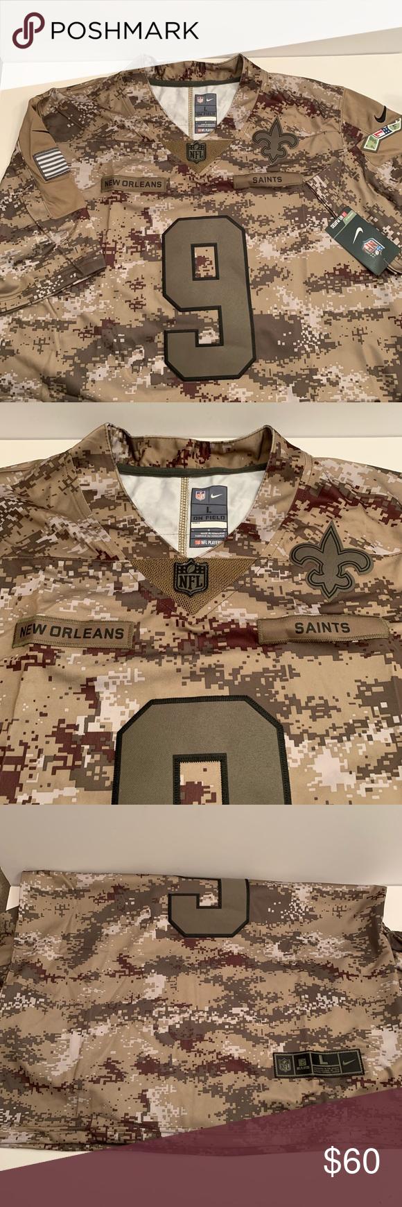 Drew Brees Saints Camo Jersey Size Large | Camo jersey, Camo ...