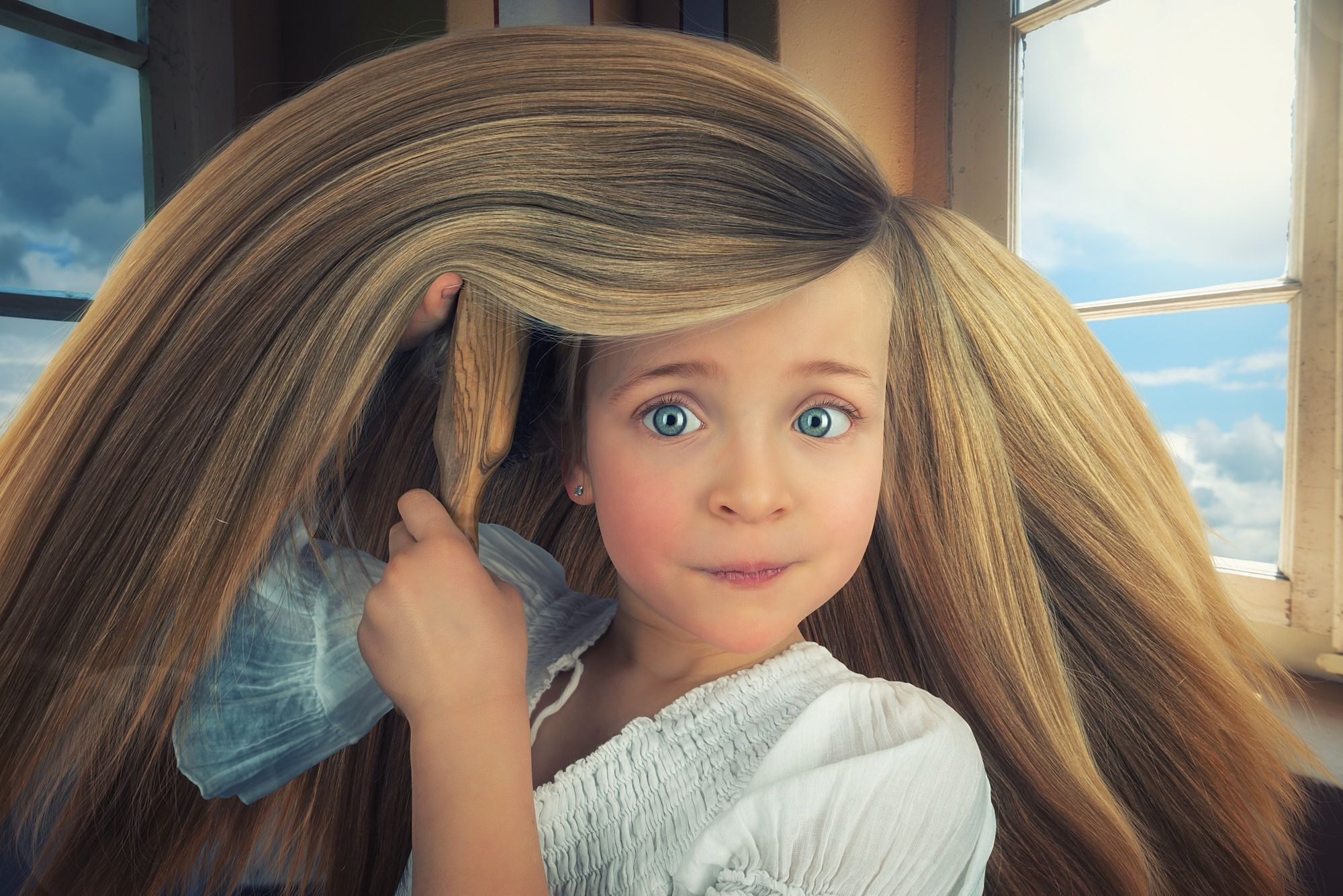 Photograph Rapunzel S Bad Hair Day By John Wilhelm Is A