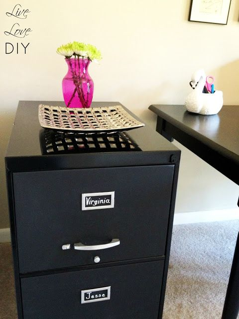 Chalkboard Paint File Cabinet | LiveLoveDIY: Rust-Oleum Professional