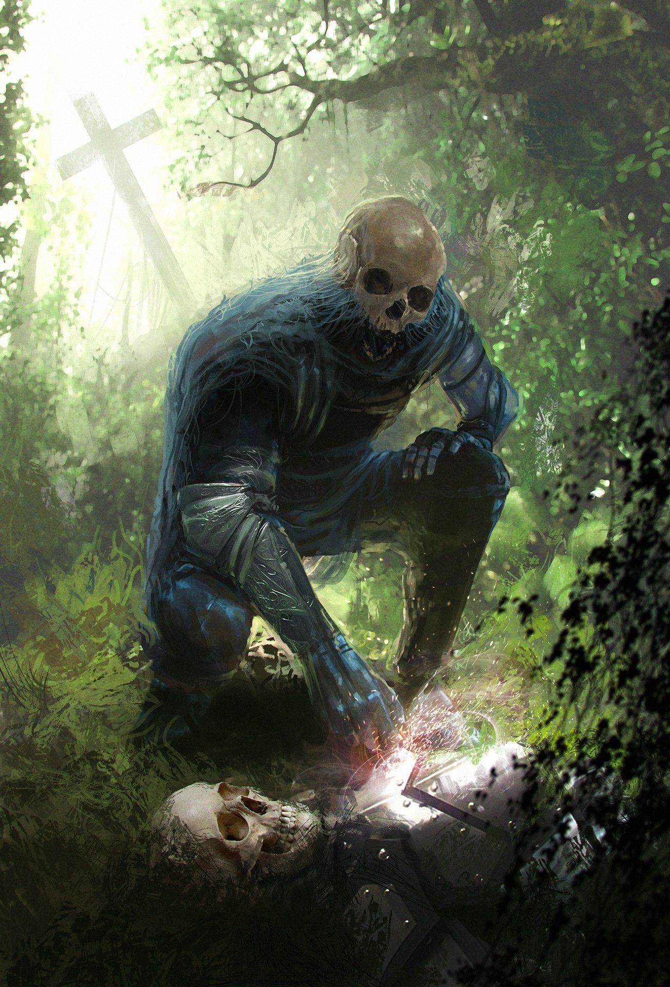 Artstation Brother Dima Zasimovich Dark Fantasy Art Fantasy Creatures Concept Art Characters