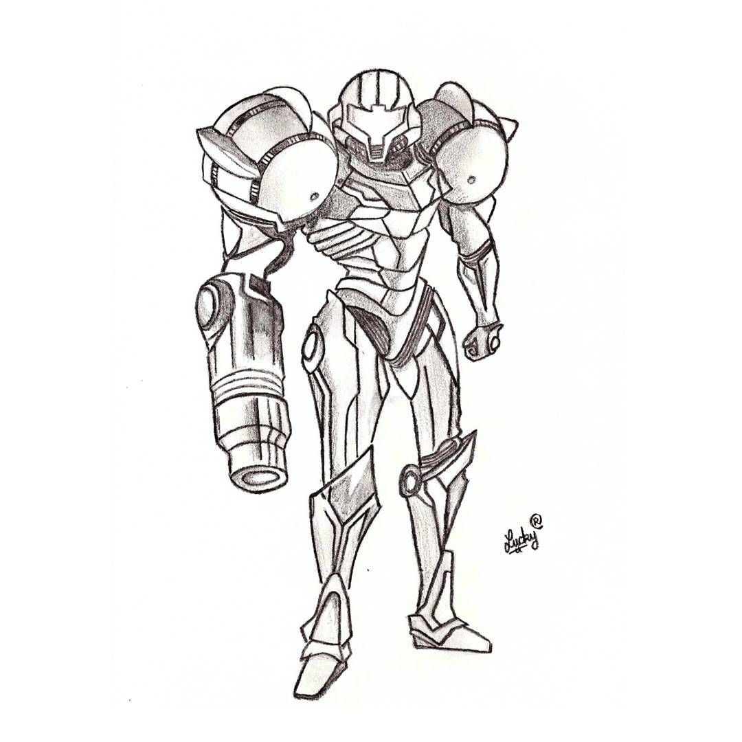 After Drawing The 16 Bit Samus I Had To Draw Her Current Look
