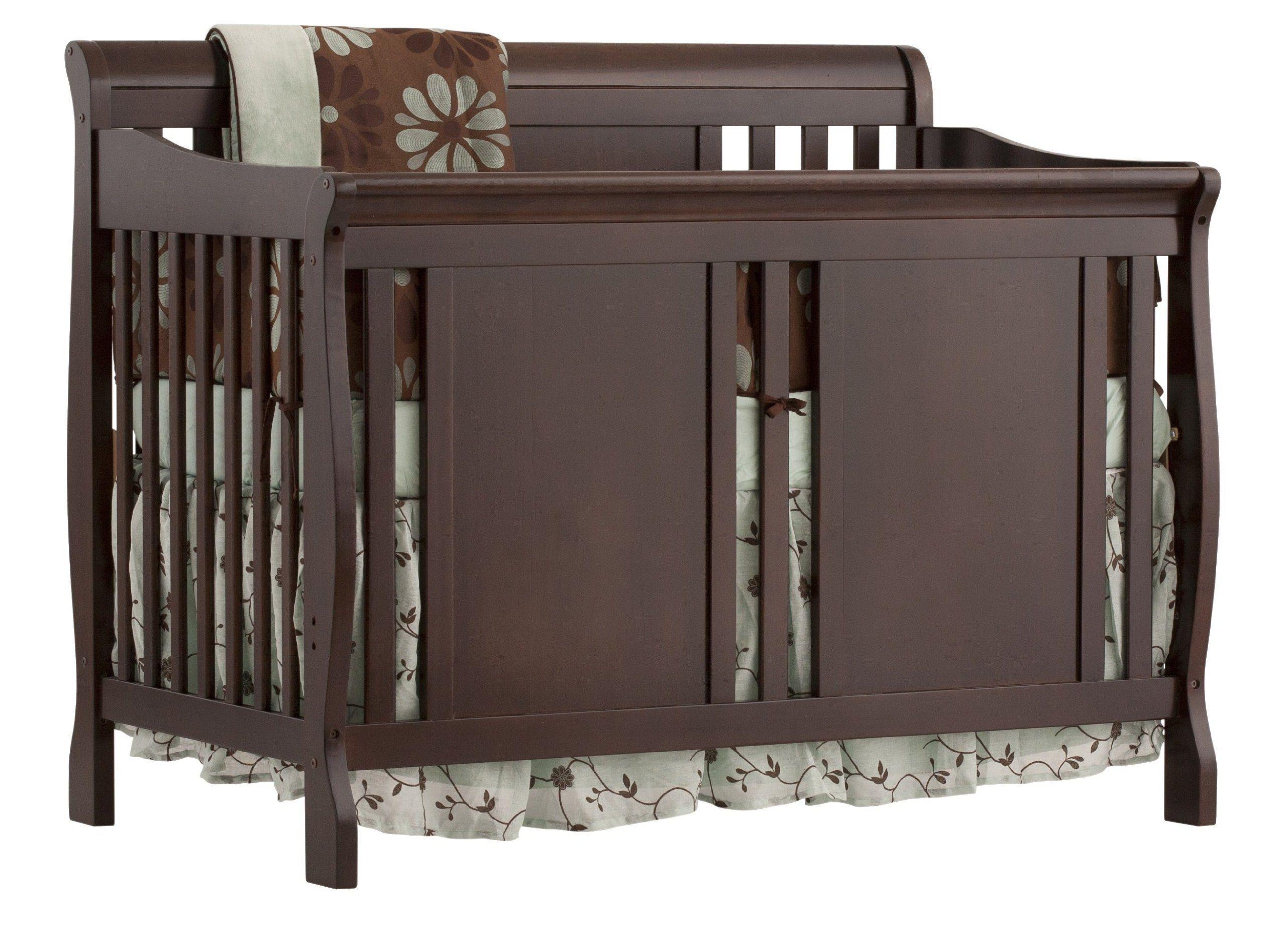 Stork Craft Verona 4 In 1 Fixed Side Convertible Crib Espresso Cribs Convertible Crib Traditional Cribs [ 1896 x 2560 Pixel ]
