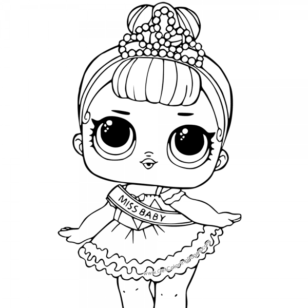 Lol Surprise Doll Coloring Pages Miss Baby Coloring Pages Cute Coloring Pages Unicorn Coloring Pages