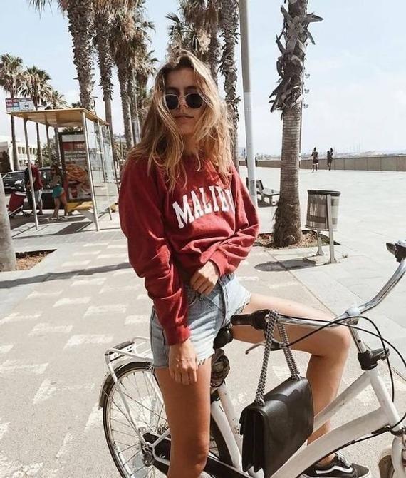 Malibu California Sweatshirt || Aesthetic Clothing •  Vintage Southern California Crewneck •  Brandy Melville Inspired