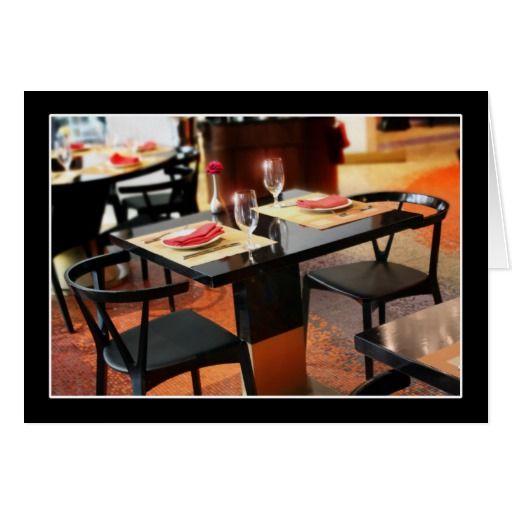 Romantic Dinner for Two Card - #Gravityx9 #Romantic