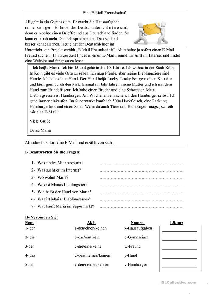 E-Mail Freundschaft | ALEMÁN 1º ESO 1º EVALUACIÓN | Pinterest ...