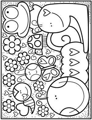 Color Bug Garden Jpg Desenhos Fofos Para Colorir Desenhos