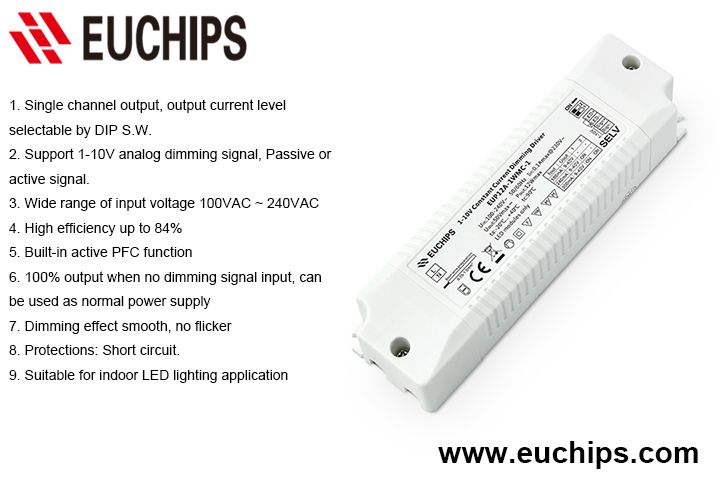 180 240 300ma 1 Channel 12w 1 10v Constant Current Dimmable Driver Eup12a 1wmc 1 Power Analog Power Strip