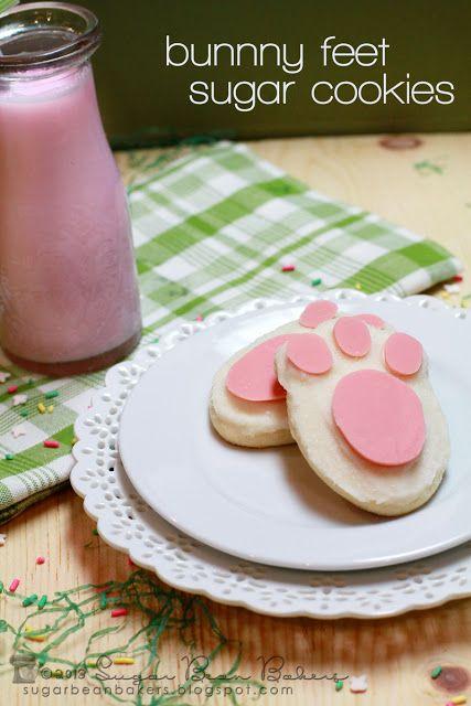 Bunny Feet Cookies Sugar Bean Bakers