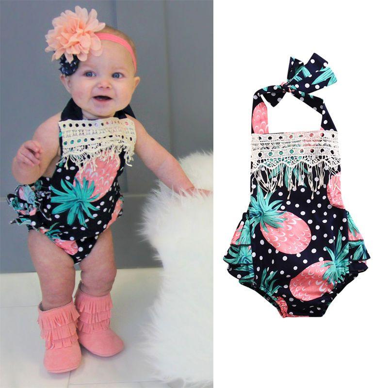 1edb6d4a0 Floralborn Infant Baby Girl Bodysuit Romper Jumpsuit Clothes Summer Outfits