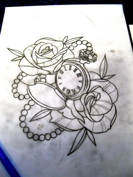 pocket watch tattoo sketch google suche marcadores de tempo pinterest tattoo ideen. Black Bedroom Furniture Sets. Home Design Ideas