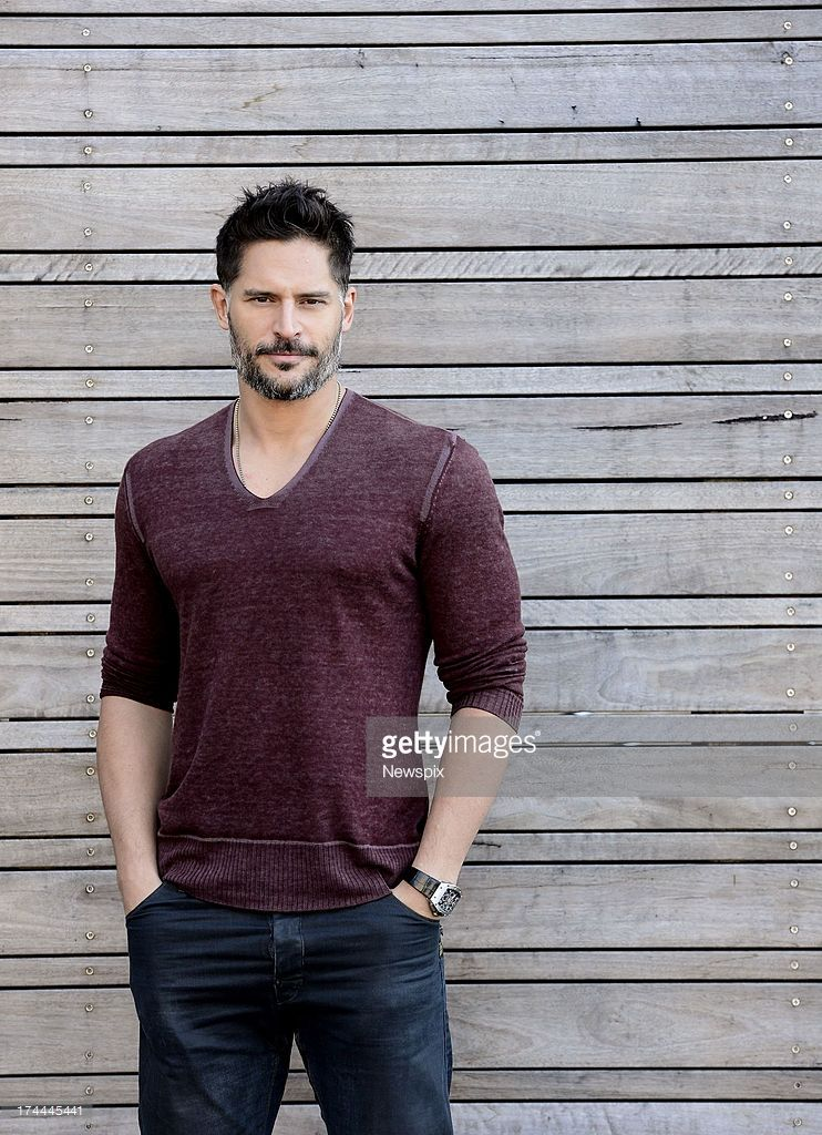 American actor Joe Manganiello poses during a photo shoot on July 24, 2013 in Sydney, Australia.