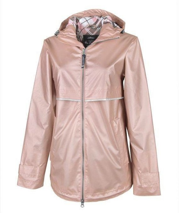 Monogrammed Preppy Rain Jacket with Hood for Women. Wind and Rain resistant.  Stay Dry and Look Good 5bf6067d8f9d
