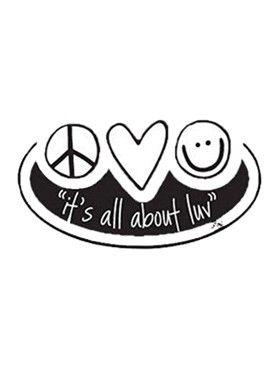 Its All About Luvper Sticker My Frivolous Wishlist Peaceloveworld