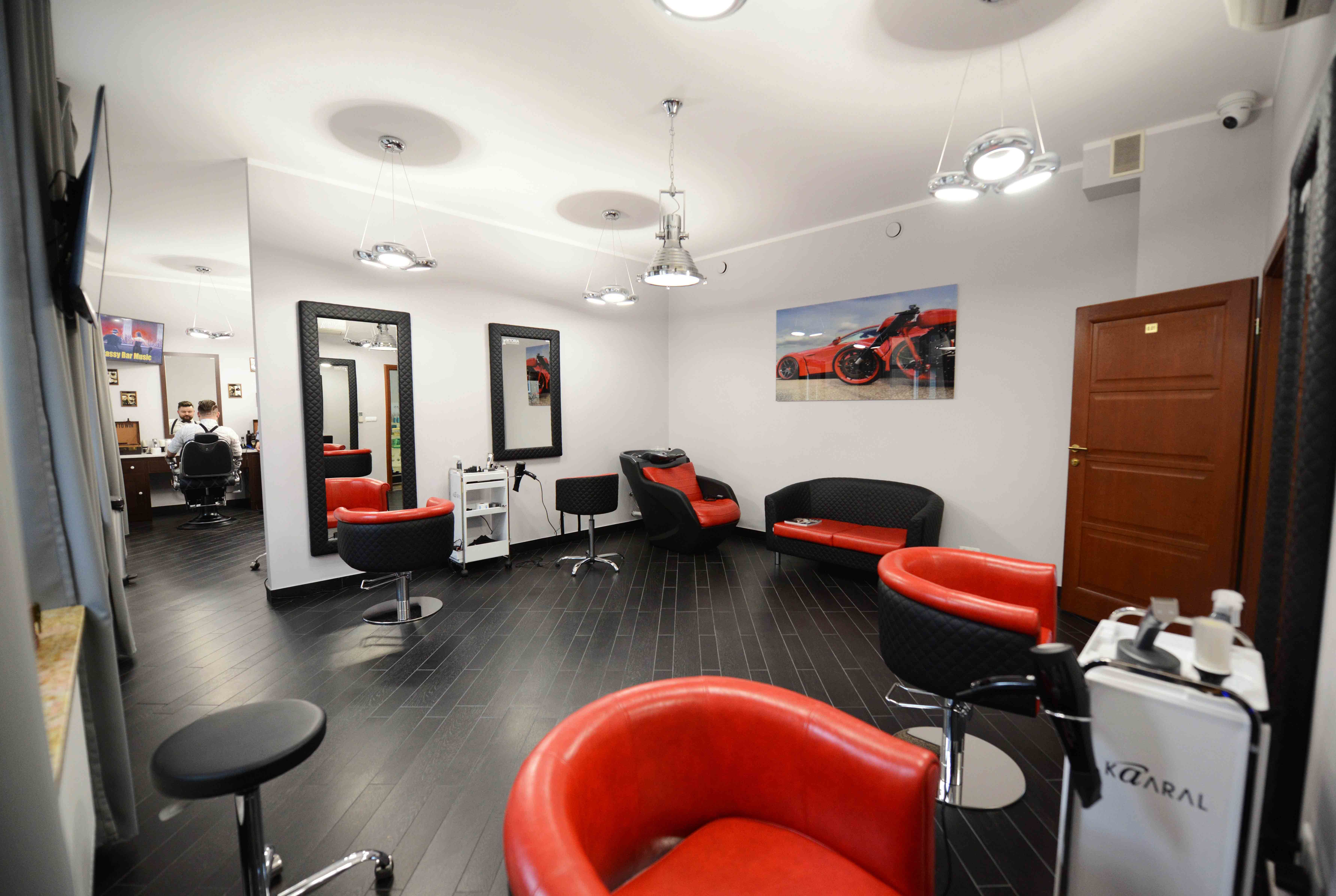 Hair salon- STUDIO WIKTORIA POLAND REFLECTION STYLING chairs and ...