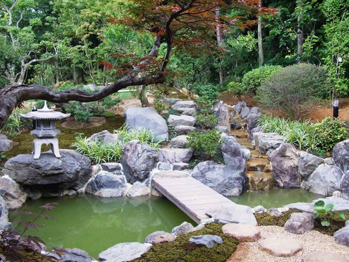 A typical japanese garden lets visit japan pinterest for Typical japanese garden plants