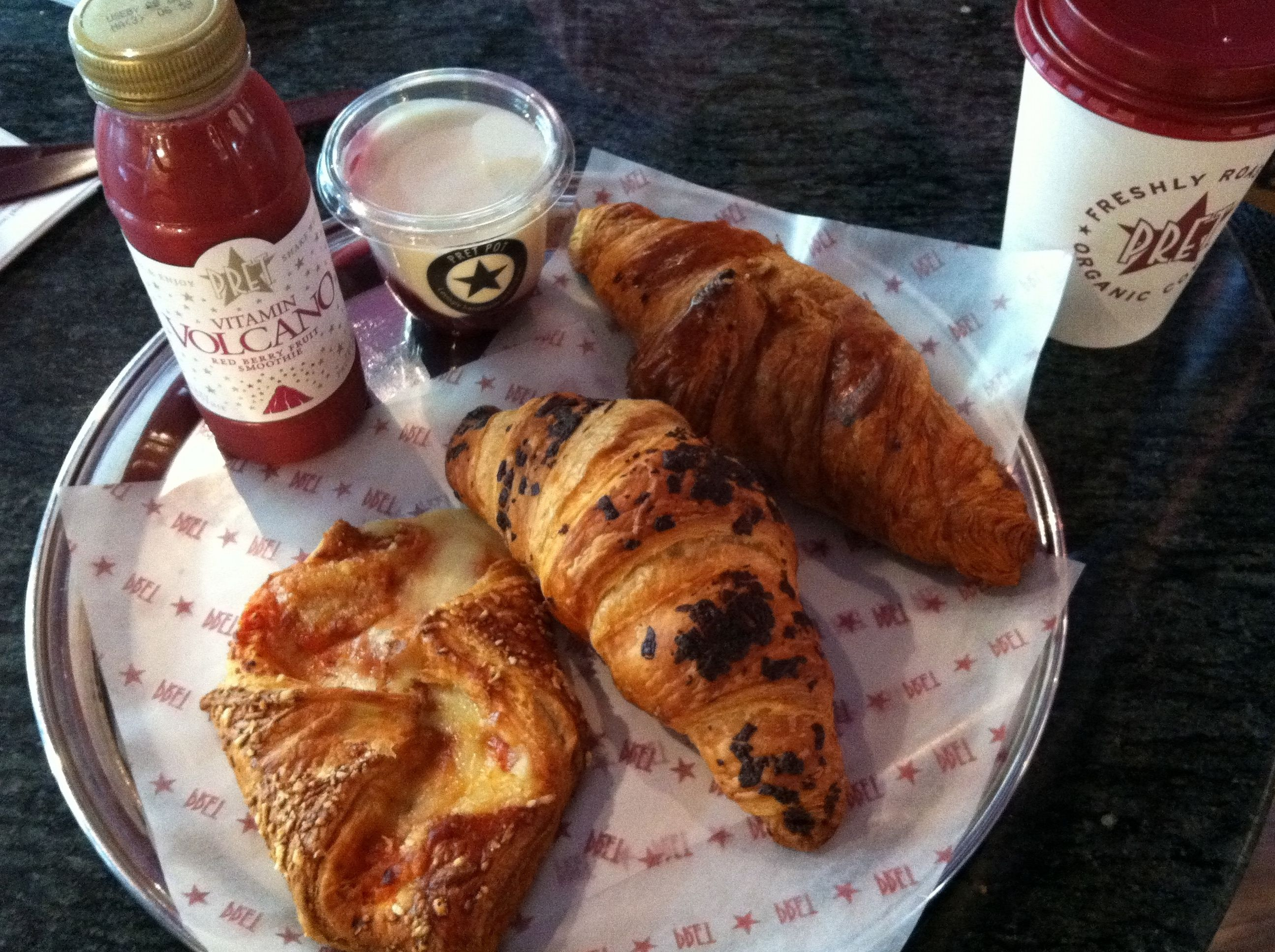 Breakfast pretty much everyday from Pret a Manger, London