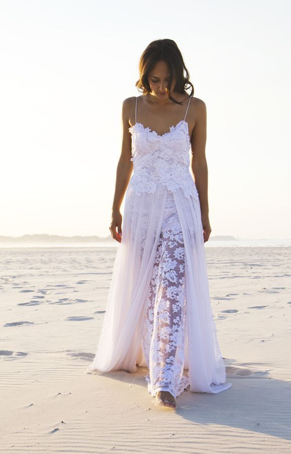 wedding dresses for beach weddings | weddings beach gowns lace ...