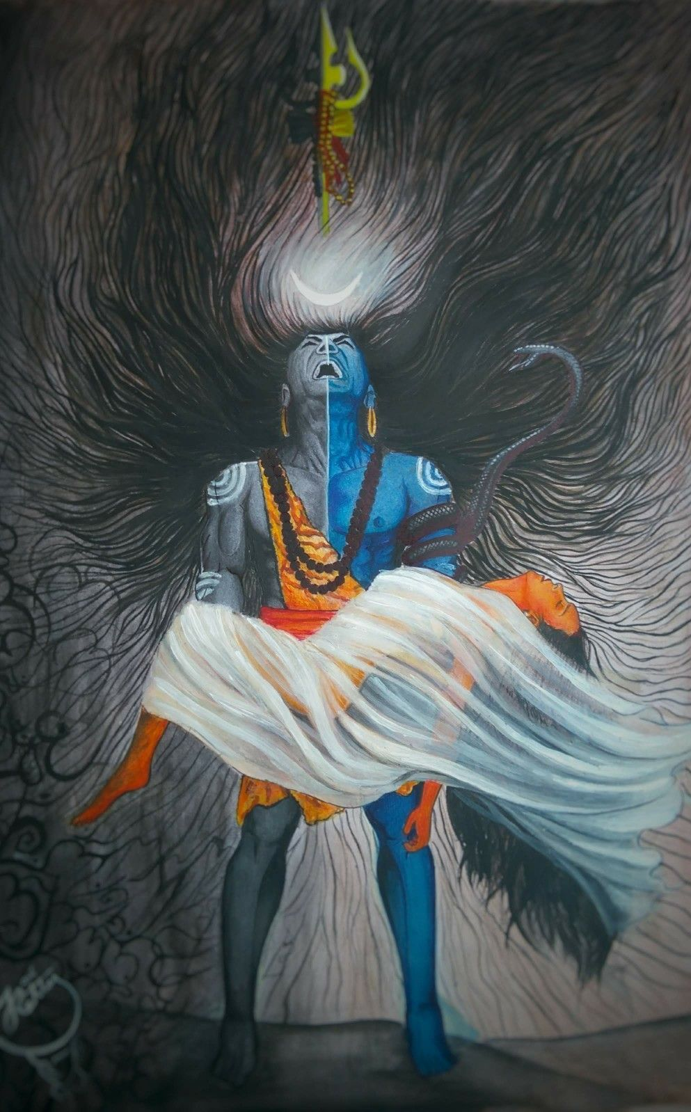 Shiva Was Carrying Sati When She Had Reduced To Ashes