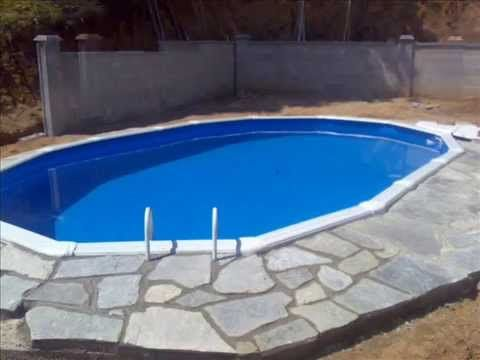 Como enterrar una piscina de plastico varios pinterest for Piscinas enterradas