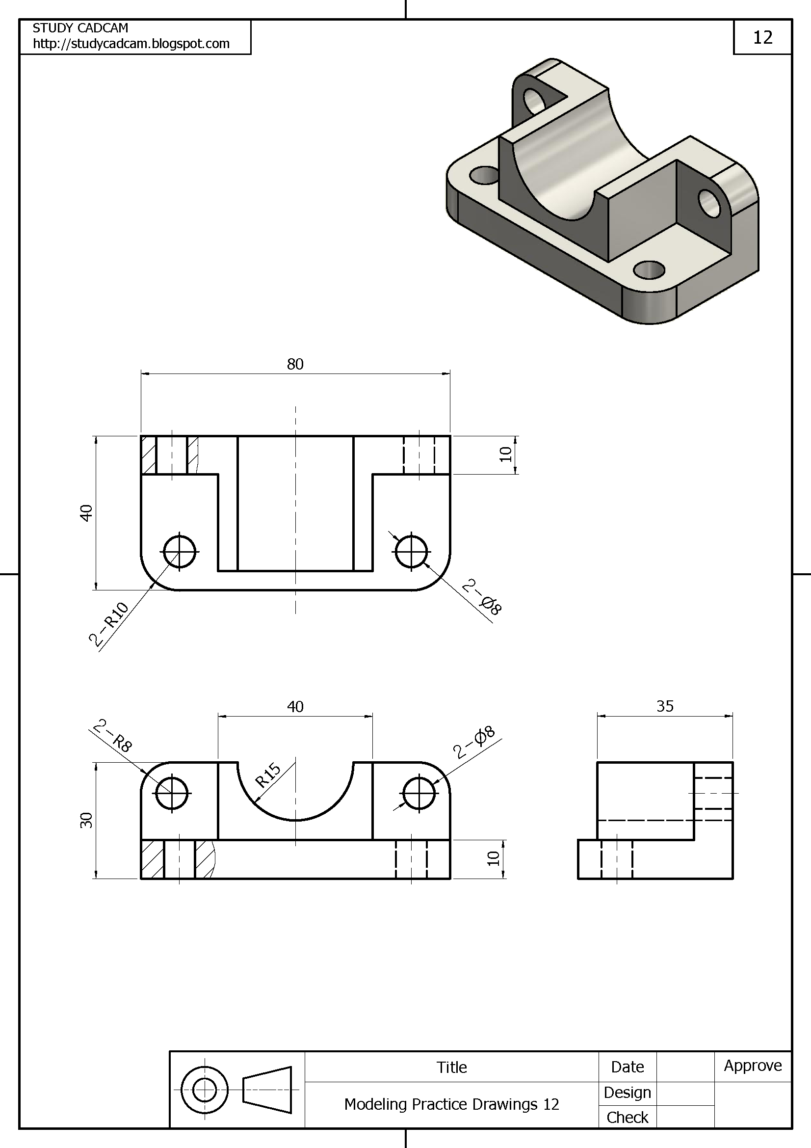 Ejemplo De Trabajo En Sistema Americano Ejercicios De Dibujo Vistas Dibujo Tecnico Dibujo Tecnico Industrial