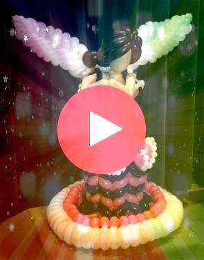 princess angel or fairy  Balloon princess angel or fairy   Tg A Torre Eiffel  mais uma criação em 3D by cenariobaloes Chandelier Centerpiece crystal table t...