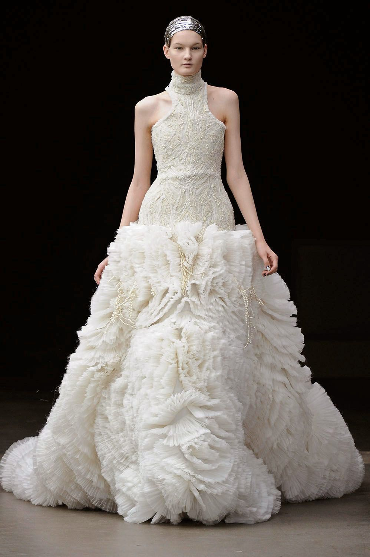 Fashion week Wedding designer dresses alexander mcqueen for girls