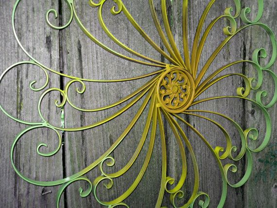 Large Wrought Iron Wall decor /Ombre / Shabby Chic Decor ...