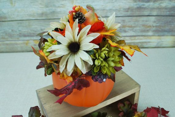 Check out this item in my Etsy shop https://www.etsy.com/listing/467020718/pumpkin-centerpiece-fall-decor